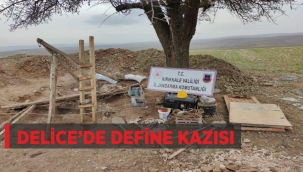 DELİCE'DE DEFİNE KAZISI