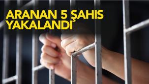 Kırıkkale'de Aranan 5 Şahıs Yakalandı