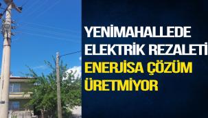 YENİMAHALLEDE ELEKTRİK REZALETİ ENERJİSA ÇÖZÜM ÜRETMİYOR