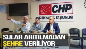 """Pekdoğan; 'Sular arıtılmadan şehre veriliyor"""""""
