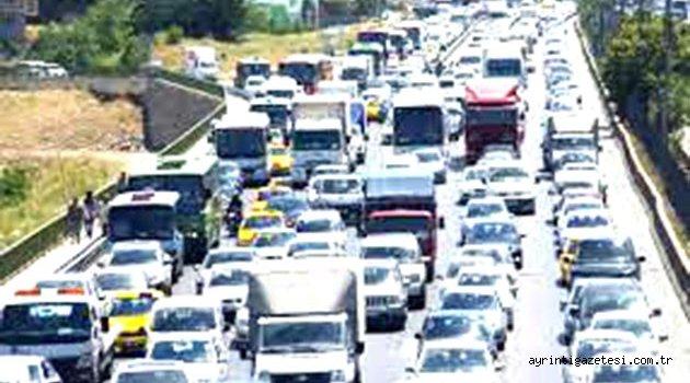 Kırıkkale'de toplam araç sayısı 63 bin