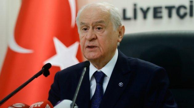 BAHÇELİ; 'İSTANBUL'DA AK PARTİ ADAYINI DESTEKLEYECEĞİZ'