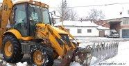 Sulakyurt Belediyesi karla mücadele ediyor