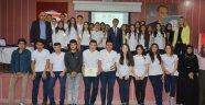Avrupa'da Staj Yapan Öğrenciler Sertifikalarını Aldı